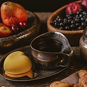 Посуда handmade. Livemaster - original item Mugs and cups: 200 ml mug and saucer series Bronze of the Normans. Handmade.