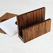 Канцелярские товары handmade. Livemaster - original item Desktop organizer made of oak (165х165х100mm). Handmade.