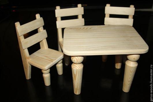 Кукольный дом ручной работы. Ярмарка Мастеров - ручная работа. Купить Набор кукольной мебели деревянный. Handmade. Кукольная мебель