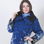 Одежда ручной работы. Ярмарка Мастеров - ручная работа Пальто демисезонное Синий цветок. Handmade.