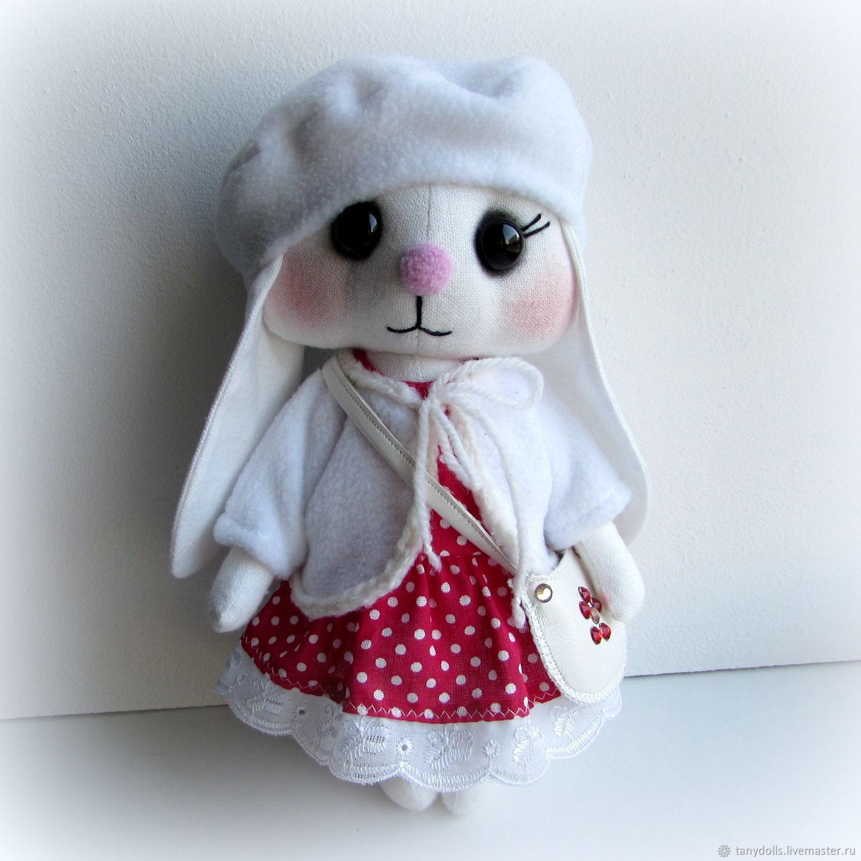 Мягкая игрушка заяц - девочка для игры детям, Мягкие игрушки, Кунгур,  Фото №1
