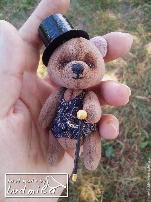 Мишки Тедди ручной работы. Ярмарка Мастеров - ручная работа. Купить Мини мишка тедди Джентльмен. Handmade. Коричневый