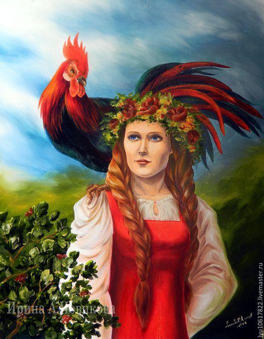 Авторская картина  `Вестники`, 2016 г. Ирина А.Новикова