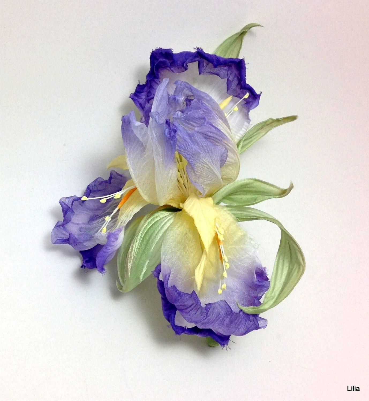 Ирис из шелка. Цветы из шелка. Несколько расцветок, Цветы, Москва,  Фото №1