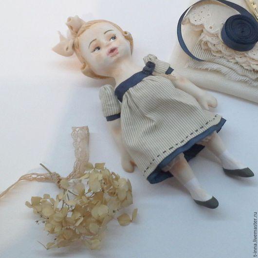 Коллекционные куклы ручной работы. Ярмарка Мастеров - ручная работа. Купить Куколка болтушка Асенька. Handmade. Бежевый, кукла в подарок