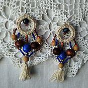 Украшения handmade. Livemaster - original item Long earrings with tassels (silver shvenzy). Handmade.