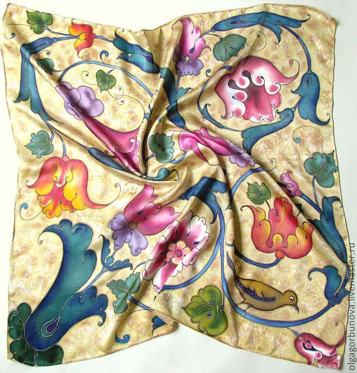 batik scarf 'baroque', Shawls1, Yaroslavl,  Фото №1