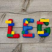 Для дома и интерьера ручной работы. Ярмарка Мастеров - ручная работа Слово из фетра LEGO. Handmade.