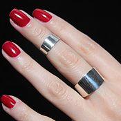 Украшения handmade. Livemaster - original item Minima Series double ring in polished 925 sterling silver. Handmade.