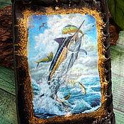 Сумки и аксессуары handmade. Livemaster - original item Cover for auto documents Fish sword.. Handmade.