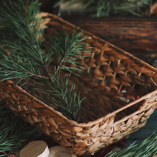 Материалы для флористики ручной работы. Ярмарка Мастеров - ручная работа. Купить Плетеная корзина 35 на 23,5 на 10 см. Handmade.