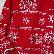 """Одежда ручной работы. Ярмарка Мастеров - ручная работа Джемпер с вышивкой """"Новогодний.Снежинки"""". Handmade."""