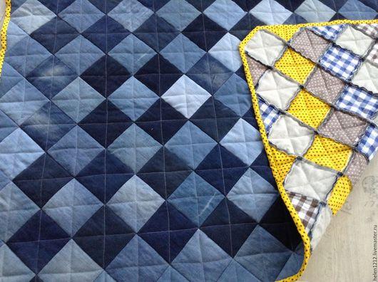 Текстиль, ковры ручной работы. Ярмарка Мастеров - ручная работа. Купить Лоскутный плед в стиле кантри Осенние витражи. Handmade.