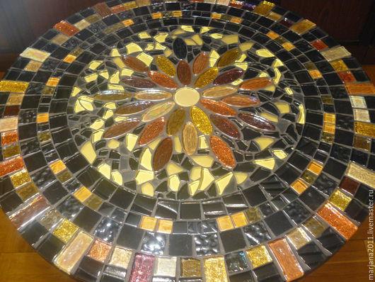 """Мебель ручной работы. Ярмарка Мастеров - ручная работа. Купить Кованый столик с мозаикой """"Сокровища Агры"""". Handmade. Черный"""