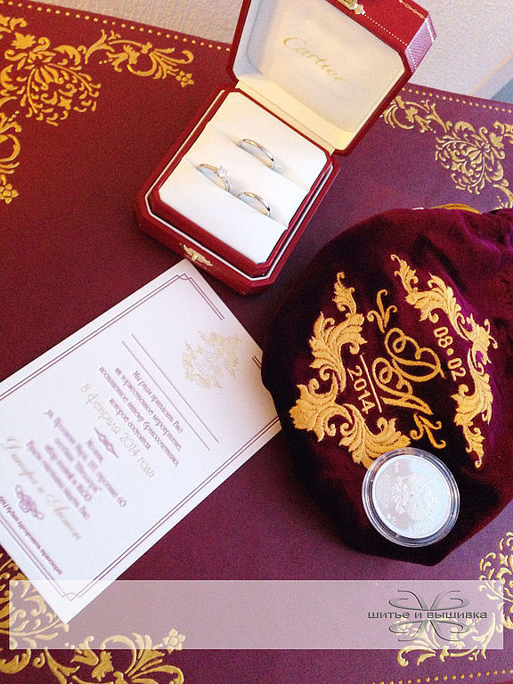 Pouch of velvet Cash for coins Wedding, Sets accessories, Moscow,  Фото №1