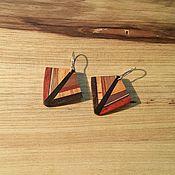 Серьги классические ручной работы. Ярмарка Мастеров - ручная работа Серьги из дерева маленькие серьги летние бохо серьги. Handmade.