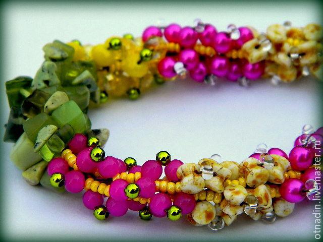 necklace with stones 'exotic', Necklace, Zenkov,  Фото №1