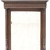 Для дома и интерьера ручной работы. Ярмарка Мастеров - ручная работа Большое настенное зеркало в резной раме с карнизом и колоннами НЕ0050. Handmade.