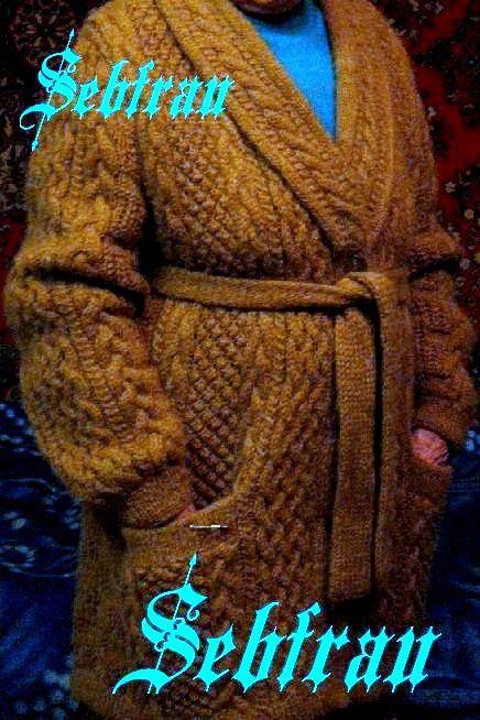 """Кофты и свитера ручной работы. Ярмарка Мастеров - ручная работа. Купить Кардиган-пальто вязаный на спицах  """"Аран"""". Авторская работа. Handmade."""