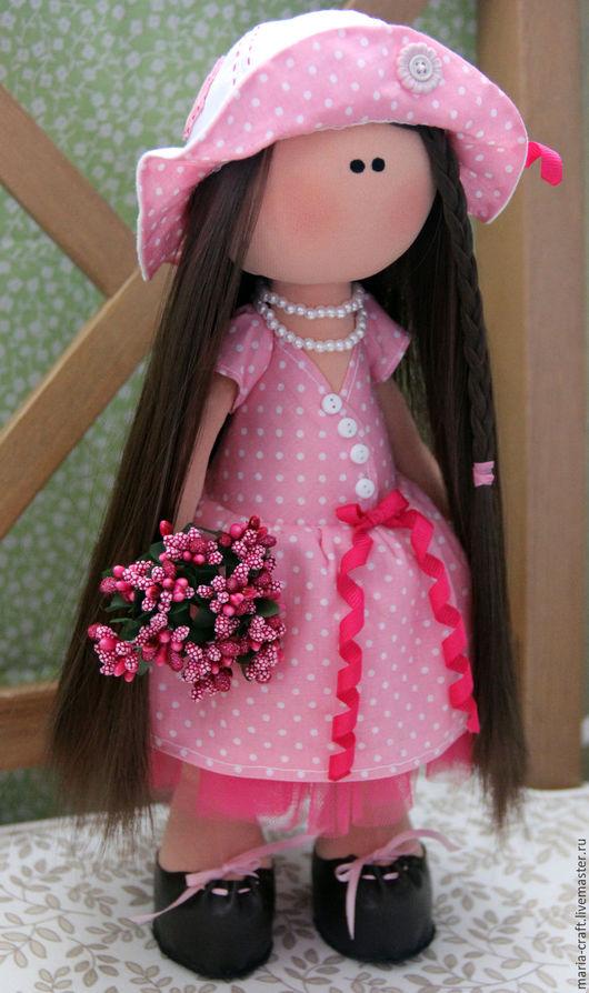 Куклы Тильды ручной работы. Ярмарка Мастеров - ручная работа. Купить Интерьерная кукла ручной работы. Handmade. Розовый
