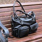 Сумки и аксессуары handmade. Livemaster - original item Bag ladies genuine patent leather MARIA maxi. Handmade.