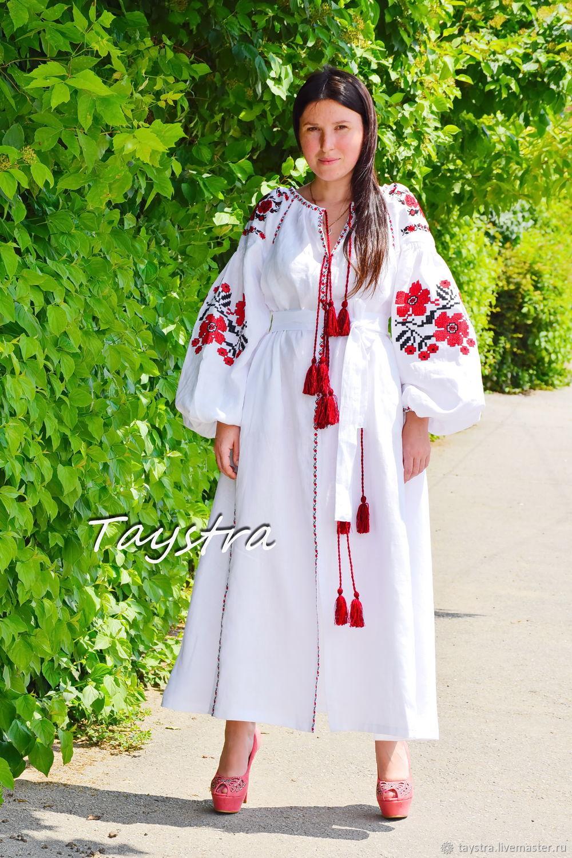 Vyshyvanka White evening dress embroidered, Dresses, Chernovtsy,  Фото №1