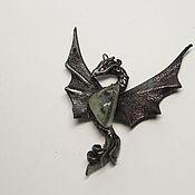 """Украшения ручной работы. Ярмарка Мастеров - ручная работа Дракон кулон """"Хранитель  магии"""" хрусталь. Handmade."""