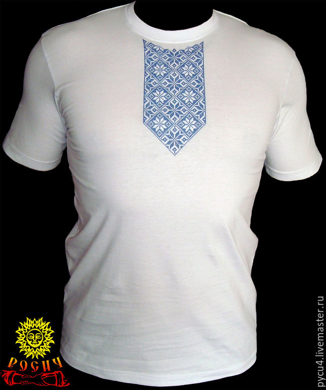 T-shirt Slavic amulet Alatyr. 100% cotton. Cross-stitch the collar. When ordering please specify t-shirt size, optional - t-shirt color and embroidery.