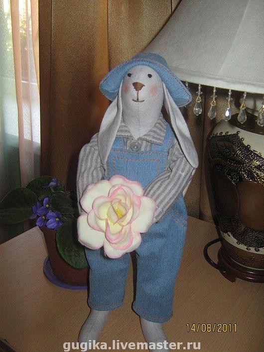 Куклы Тильды ручной работы. Ярмарка Мастеров - ручная работа. Купить заяц Данилка. Handmade. Заяц, кукла в подарок