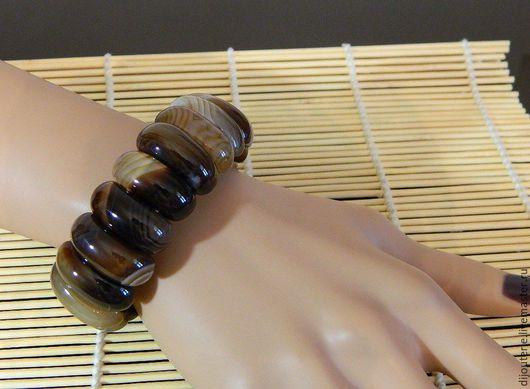 Браслеты ручной работы. Ярмарка Мастеров - ручная работа. Купить Браслет натуральный Агат Ботсвана, Южно-Африканский камень.. Handmade.