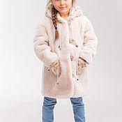 Работы для детей, handmade. Livemaster - original item Mouton coat for a little girl. Handmade.