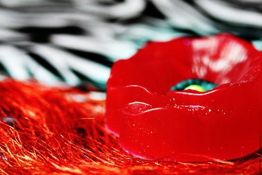"""Мыло ручной работы. Ярмарка Мастеров - ручная работа. Купить Мыло ручной работы """"Ароматный мак"""". Handmade. Ярко-красный"""