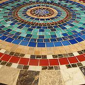 Для дома и интерьера handmade. Livemaster - original item Wrought iron table with mosaic tiles