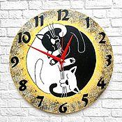 handmade. Livemaster - original item Wall clock interior Yin Yang. Handmade.