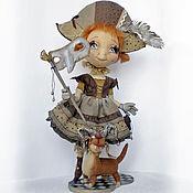 Куклы и игрушки ручной работы. Ярмарка Мастеров - ручная работа Коломбина и Арлекин. Коллекционная кукла. Handmade.