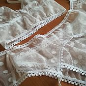 Одежда handmade. Livemaster - original item Polka dot mesh underwear set with belt and garters. Handmade.