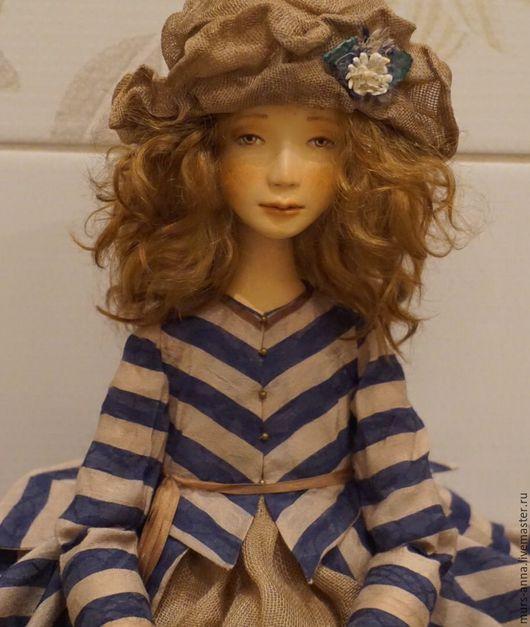 Коллекционные куклы ручной работы. Ярмарка Мастеров - ручная работа. Купить Коллекционная авторская кукла Аглая.. Handmade. Тёмно-синий