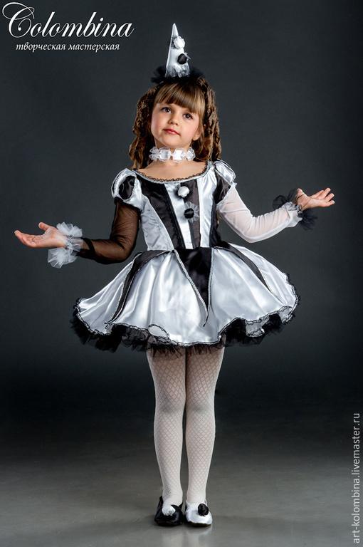 Детские карнавальные костюмы ручной работы. Ярмарка Мастеров - ручная работа. Купить костюм клоунессы. Handmade. Чёрно-белый