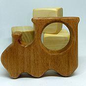 Куклы и игрушки handmade. Livemaster - original item Teether teething toy Train Wooden toy. Handmade.