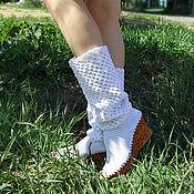 """Обувь ручной работы. Ярмарка Мастеров - ручная работа Летние сапожки """"Зефирки"""". Handmade."""