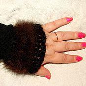Аксессуары handmade. Livemaster - original item Fingerless gloves made out of dog fur art No. №51ж .Bonus.. Handmade.