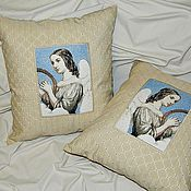 Для дома и интерьера ручной работы. Ярмарка Мастеров - ручная работа Декоративные подушки! Ангелы. Комплект из 2-х подушек. Handmade.