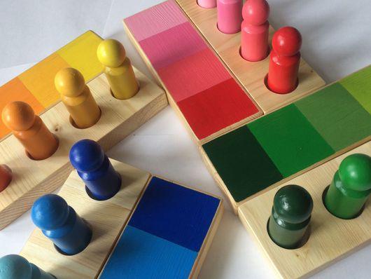 """Развивающие игрушки ручной работы. Ярмарка Мастеров - ручная работа. Купить Набор """" Изучаем оттенки"""". Handmade. Монтессори"""