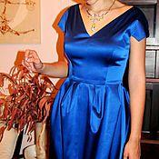Одежда ручной работы. Ярмарка Мастеров - ручная работа Платье из шелкового атласа. Handmade.