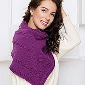 Шаль- шарф треугольной формы, вязаный платок, бактус