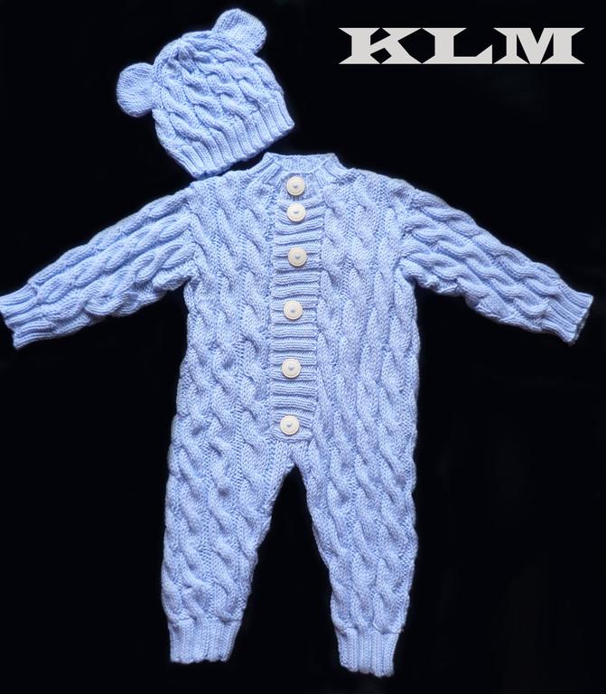 Детское вязание до года спицами комбинезоны