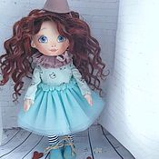 Портретная кукла ручной работы. Ярмарка Мастеров - ручная работа Кудряшка в бюрюзовом. Handmade.