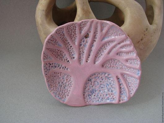 """Ванная комната ручной работы. Ярмарка Мастеров - ручная работа. Купить """"Зимнее утро"""" керамическая мыльница. Handmade. Бледно-розовый"""