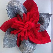 Украшения handmade. Livemaster - original item Brooch-flower felted from natural wool. Handmade.