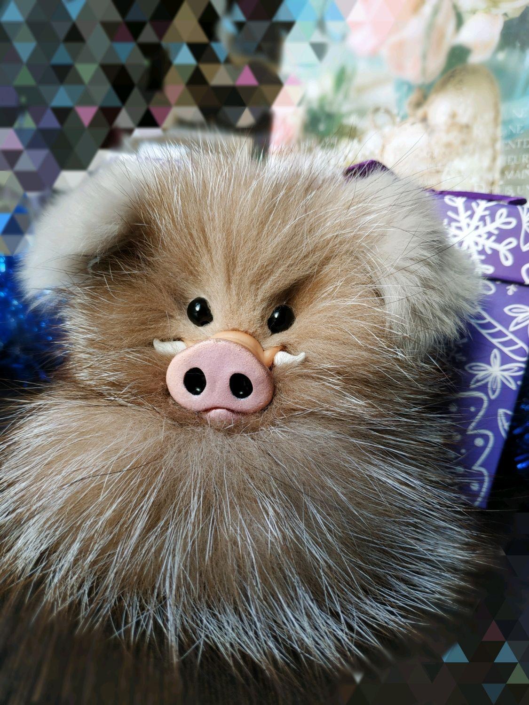 Кабанчик новогодний-символ 2019 года, свинья, поросёнок, Хрюша, брелок